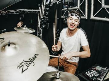 Sylvan Amoureus drumdocent bij Muziekschool Utrecht